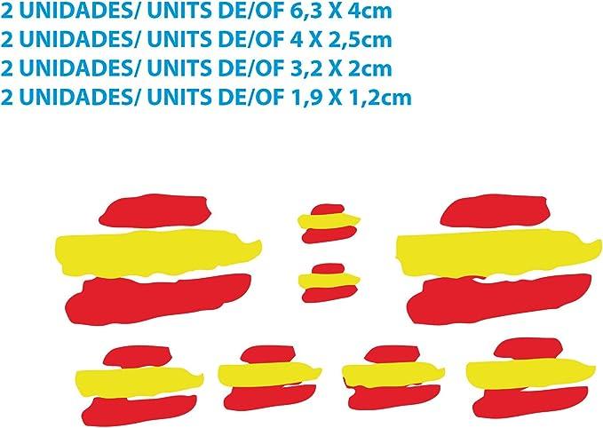 Custom Vinyl Pegatinas Banderas DE ESPAÑA Stickers AUFKLEBER Decals Moto Moto GP Bike Coche (Colores Bandera ESPAÑA/Spain Flag Colors): Amazon.es: Coche y moto