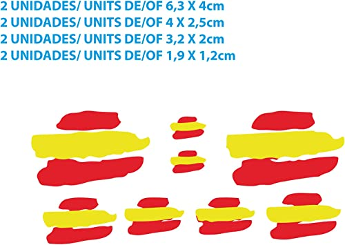 Custom Vinyl Pegatinas Banderas DE ESPAÑA Stickers AUFKLEBER Decals Moto Moto GP Bike Coche (Colores Bandera ESPAÑA/Spain Flag Colors): Amazon.es: Coche y moto