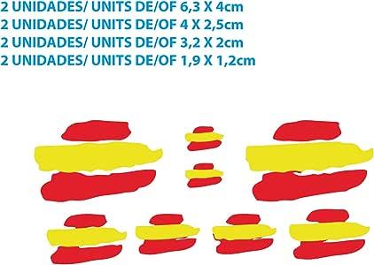 Custom Vinyl Pegatinas Banderas DE ESPAÑA Stickers AUFKLEBER ...