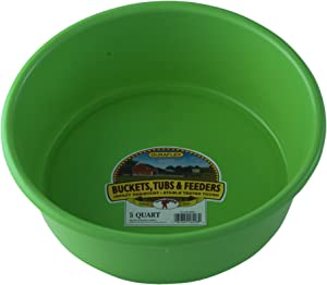 Little Giant Plastic Utility Pan (Lime Green) Durable & Versatile Short Livestock Feeding Bucket (5 Quart) (Item No. P5LIMEGREEN)