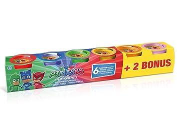 Canal Toys – PJ máscaras 4 Pots De Plastilina + 2 Bonus, ...