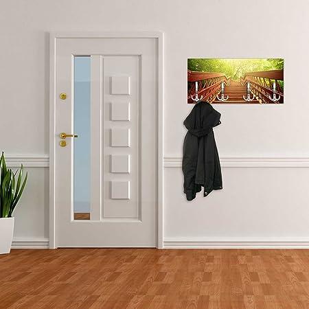Perchero con diseño Madera Escaleras hacia la Felicidad Pared Gancho – Perchero de Pared dg379: Amazon.es: Hogar