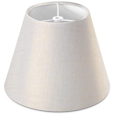 Lamp Shade IMISI Linen Fabric White Lamp Shade Small 5  Top Diameter x 9  Bottom Diameter x 7  Tall (White)