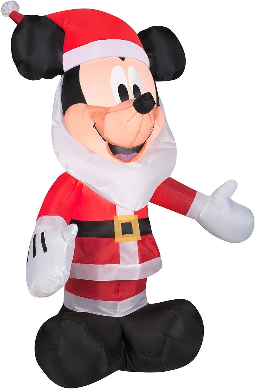 Amazon.com: Gemmy hinchables 3,5 Mickey Mouse con Papá Noel ...
