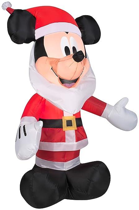 Gemmy Inflatables 3.5u0027 Mickey Mouse Santa Beard Disney Holiday Decor