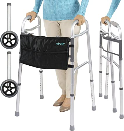 Amazon.com: Plegable Walker por Vive – Elderly Walker es ...