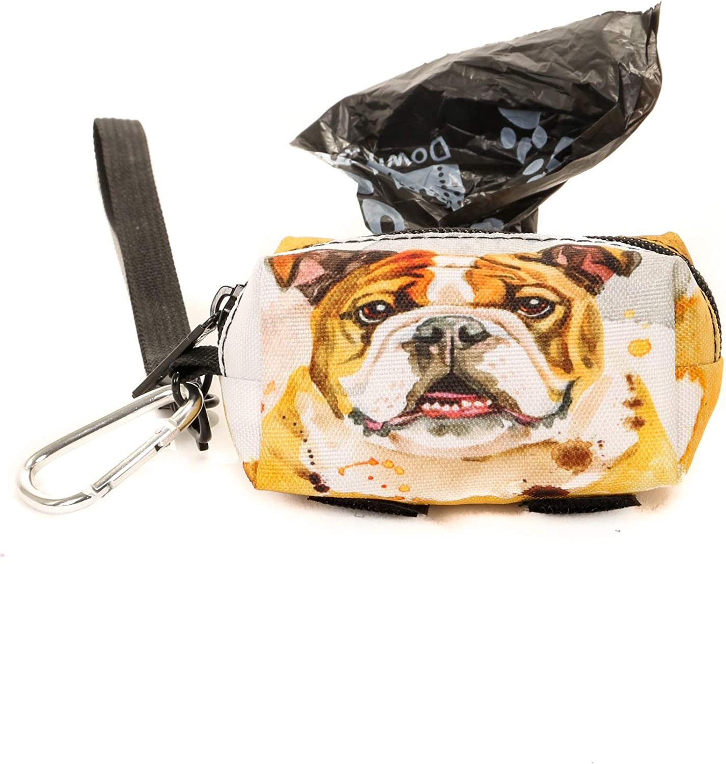 Doggy Poop Waste Bag Dispenser for Fashionably Cute Owners and All Dog Breeds poopyCUTE DOGGIE Papillion Luxury Fashion Style