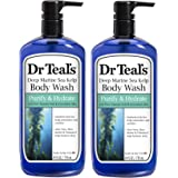 Dr. Teal's Epsom Salt Bath and Shower Body Wash with Pump - Deep Marine Sea Kelp and Essential Oils - Purify and Hydrate…