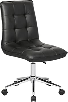 Amazon Com Porthos Home Leona Office Chair Unique Luxury Home Office Chairs Height Adjustable 360 Degree Swivel Easy Glide Caster Wheels Ultra Thick Padding Size 24 X 20 X 39 Inch Furniture Decor