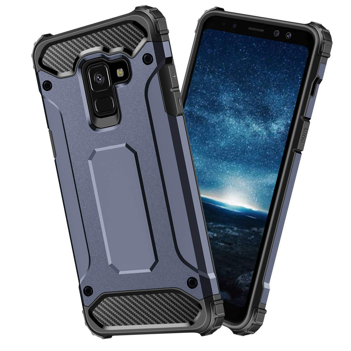 size 40 5bbae d66d0 Amazon.com: Protective Galaxy A8/A8 Plus Thin Slim case,thinest Best ...