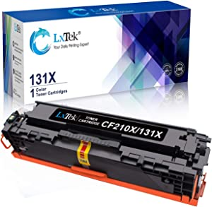 LxTek Remanufactured Toner Cartridges Replacement for HP 131X CF210X 131A CF210A to use with Laserjet Pro M251nw M276nw Printer, High Yield (1 Black)