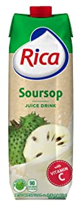 RICA Soursop Juice Drink |Tropical Collection | 1 Lt | 6pack |