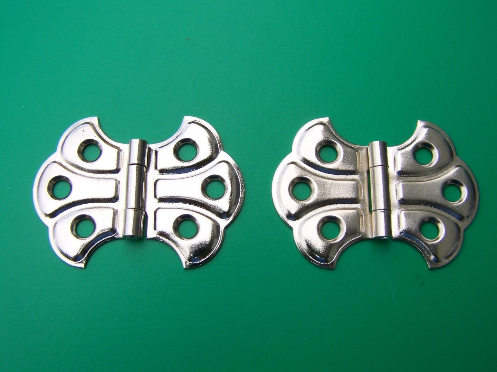 USA Premium Store 4 FINISHES BUTTERFLY HINGE FULL SURFACE FLUSH HINGE SOLD IN PAIRS 2'' W X1 7/16''H (Polished Nickel)