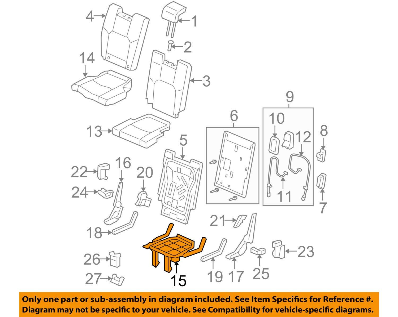 Honda Genuine 82136-SZA-A01 Seat Cushion Frame