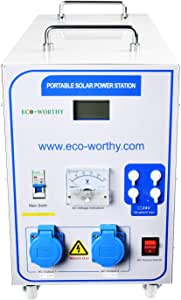 ECO-WORTHY All-in-one Solar Charge Inverter: Built in 1500W 24V Pure Sine Wave Inverter and 60A Charge Controller for Off Grid Solar Power System Kit