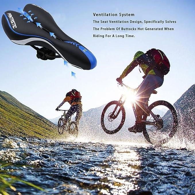 Magic zona sillín de bicicleta con 15 en 1 kit de bicicleta multifunción herramienta de reparación, montaña bicicleta asiento profesional carretera MTB ...