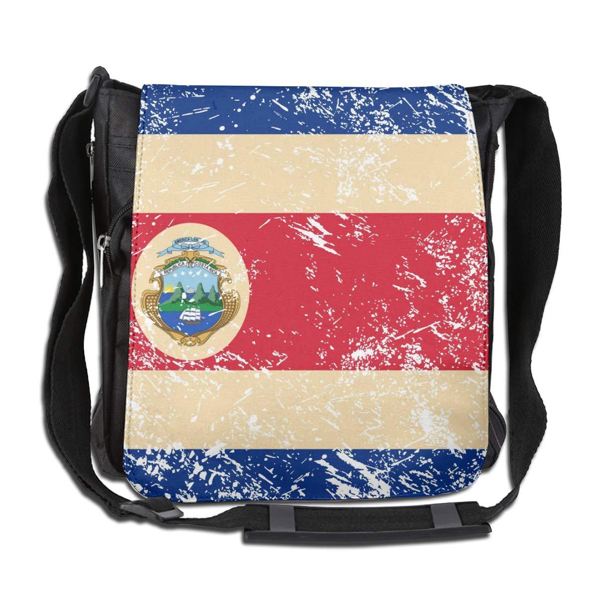 Costa Rica Retro Flag Crossbody Shoulder Bag Fashion Casual Daily Messenger Bag Satchel School Bag For Women And Men