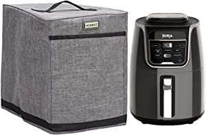 HOMEST Air Fryer Dust Cover with Accessory Pocket Compatible with Ninja Air Fryer 5.8 Quart, Grey (Patent Pending)
