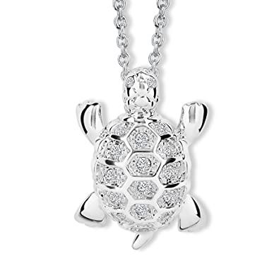 Fantaisie Collier Avec De Bijou Alp Chaîne Cristal Dauphin Swarovski® Blanc Tortue Turtle Bijoux Crystals Crystelle Pendentif Clair E9bHeD2IWY