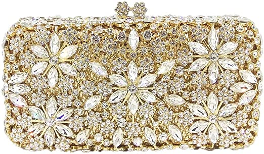 Clutches For Womens Evening Bags Purse Chain Dress Handbags Crystal Wedding