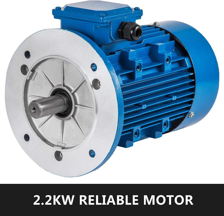 PhenixGa Moteur triphas/é de d/émarrage de condensateur triphas/é 2.2KW B14 Moteur /électrique 3000RPM AC