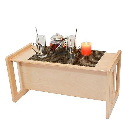 3 en 1 Pequeña Muebles Multifuncional Para Adultos, Mesa de Café o ...