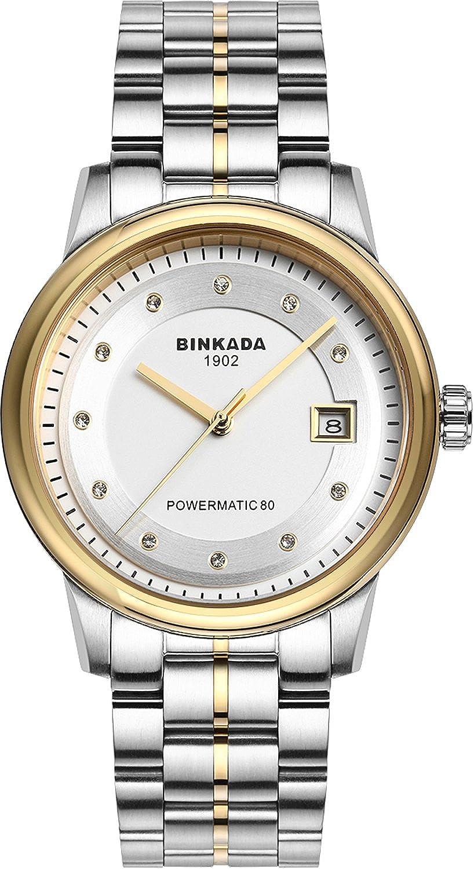 BINKADA 3popular自動機械ホワイトダイヤルメンズ腕時計# 708901 – 3 B014WLA9G2