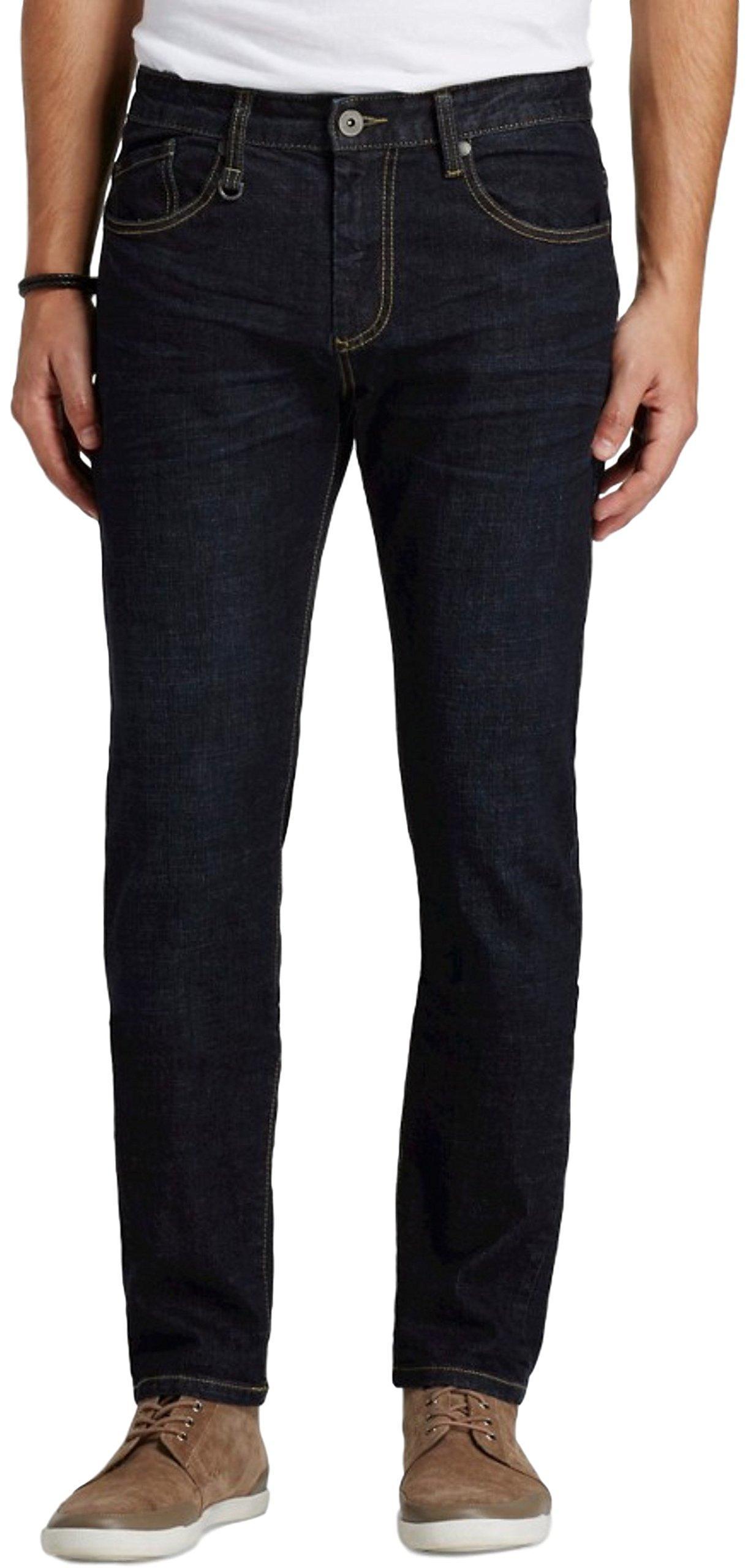 Modern Threads by Well Versed Men's Slim Tapered Fit Jeans (30X30, Darkest Blue)