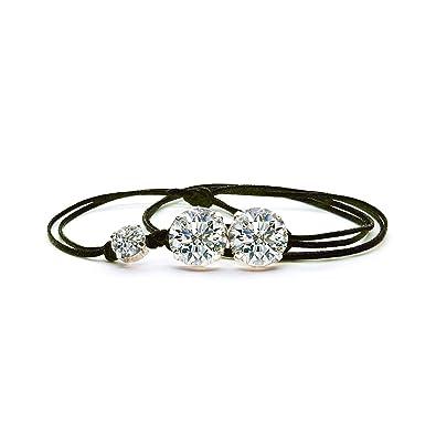 a basso prezzo c1a40 6db1f Bracciale Donna con Cristalli Swarovski, in vari colori, braccialetto con  gioiello donna casual e elegante - novità 2019 estate - made in italy - ...