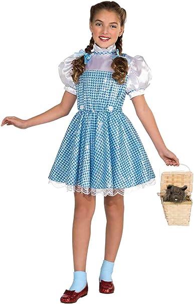 Amazon.com: Mago de Oz Dorothy niña disfraz con lentejuelas ...