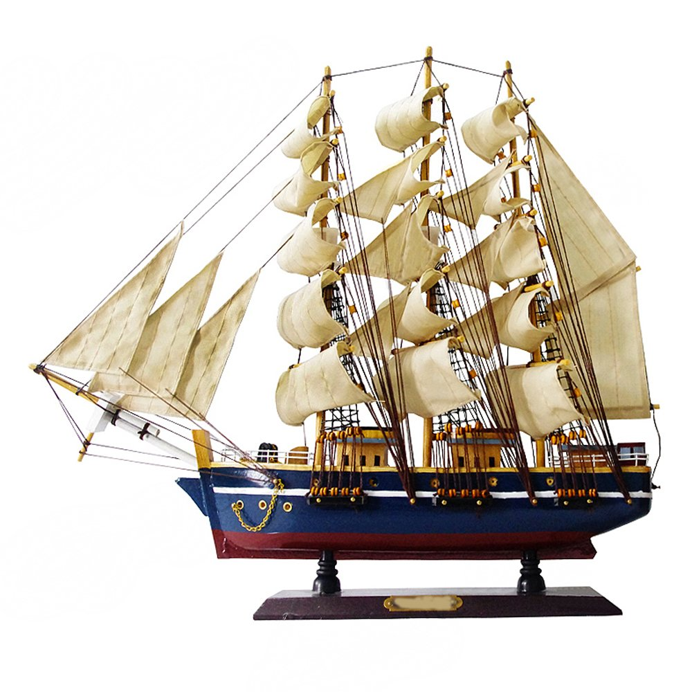 precio razonable DECORACIóN ZQ Ship Model Decoration Decoration Decoration Madera sólida Artesanal Barco hogar  buena reputación