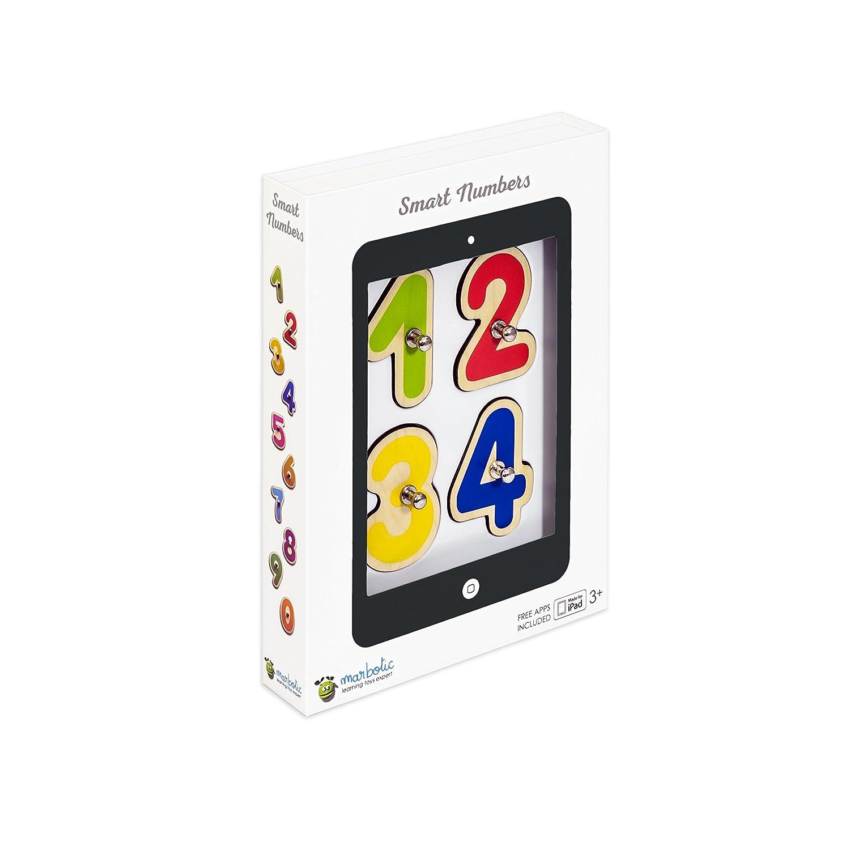 Marbotic SB16 Pack Smart Letter//Number Vernetzte Holzzahlen und Buchstaben