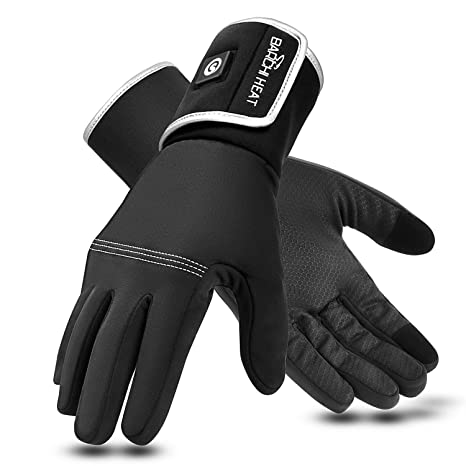 Heated Gloves,Electric Rechargeable Battery Heat Gloves for Men Women,7.4V 2200MAH Battery Powered Electric Heated Ski Bike Motorcycle Warm Gloves Hand Warmers,Winter Snow Gloves Mittens