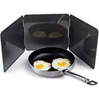 Fox Run 5938 Non-Stick 3 Sided Splatter Guard for Stove Top and Frying Pan, 9 x 10.25 inches, Gray Steel