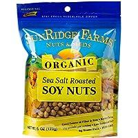 SunRidge Farms Roasted & Salted Organic Soynuts, 6 Ounce Bag (Pack of 12)