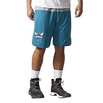 adidas Smr Rn Rev Shrt Pantalón Corto Charlotte Hornets de Baloncesto, Hombre, Multicolor (Nbacho), S