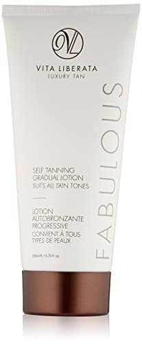 Organic Gradual Tan Lotion – VITA LIBERATA Fabulous Sunless Tanning Gradual Tanning Lotion, 6.76 Fl Oz