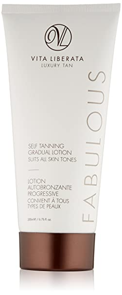 be21a7964c1 Organic Gradual Tan Lotion - VITA LIBERATA Fabulous Self Tanning Gradual  Tanning Lotion, Natural, Vegan, Gradual Build Fake Tan 200 ml