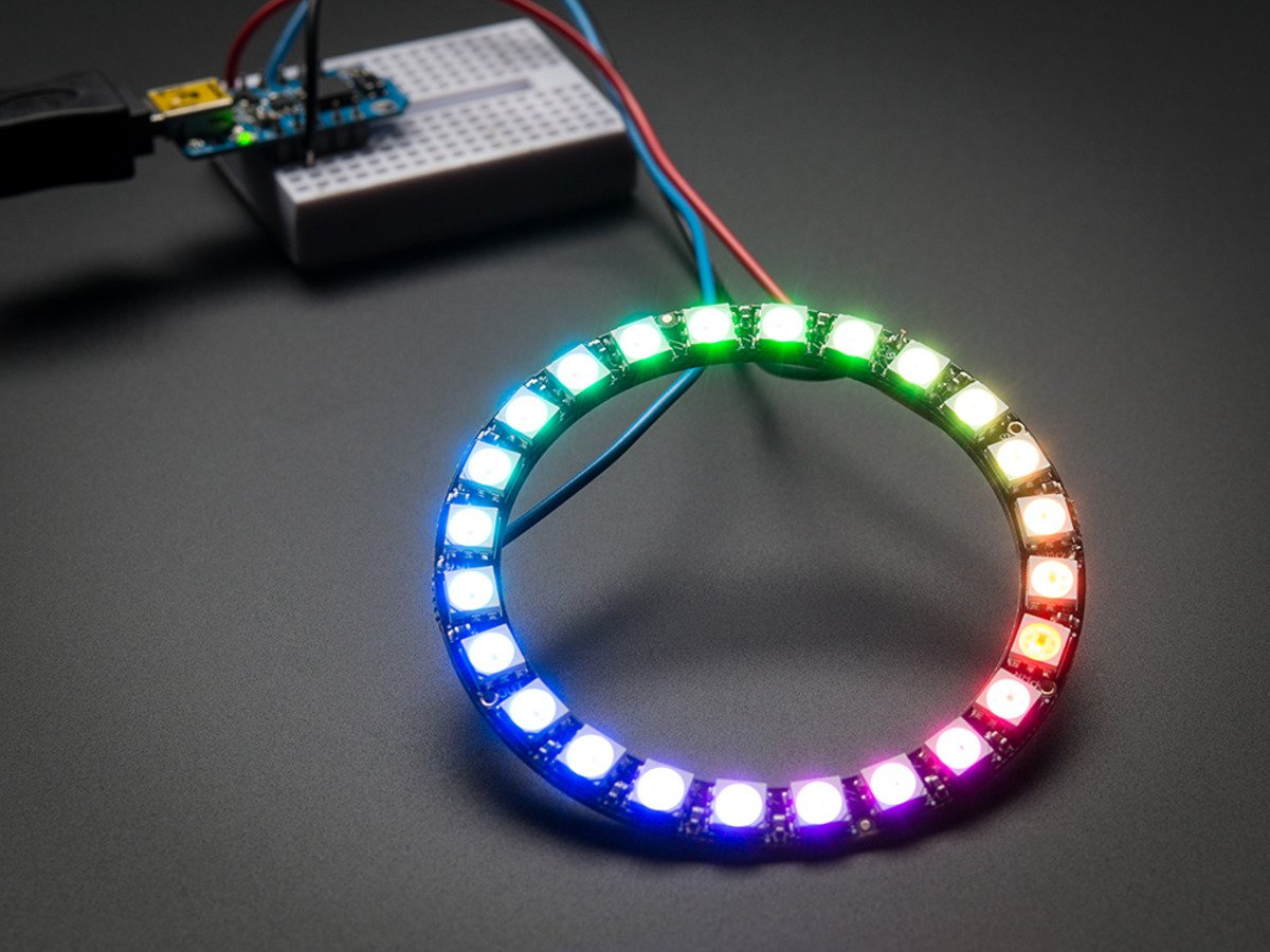 Adafruit 24 Rgb Led Neopixel Ring Computers Accessories Tri Color Circuit Encoder With