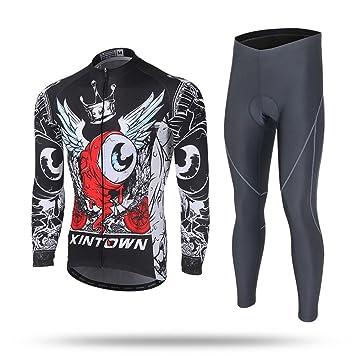 884bac80d Pinjeer Cute Big Eye Monster Spring Autumn Men s Mountain Bike Cycling  Jersey Clothing