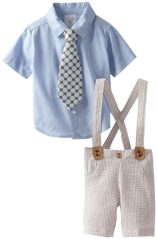 Mud Pie Baby-boys Newborn - Toddler Boys Suit W/shirt , Tie