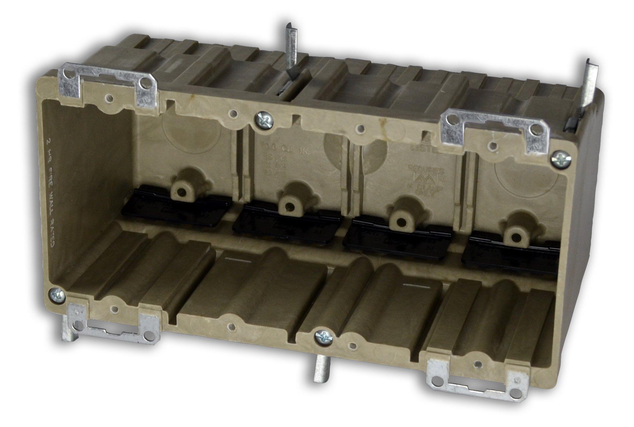 Allied Moulded 9314=EWK Four Gang Fiberglass Box