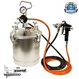 TCP Global Pressure Tank Paint Spray Gun with 1.5