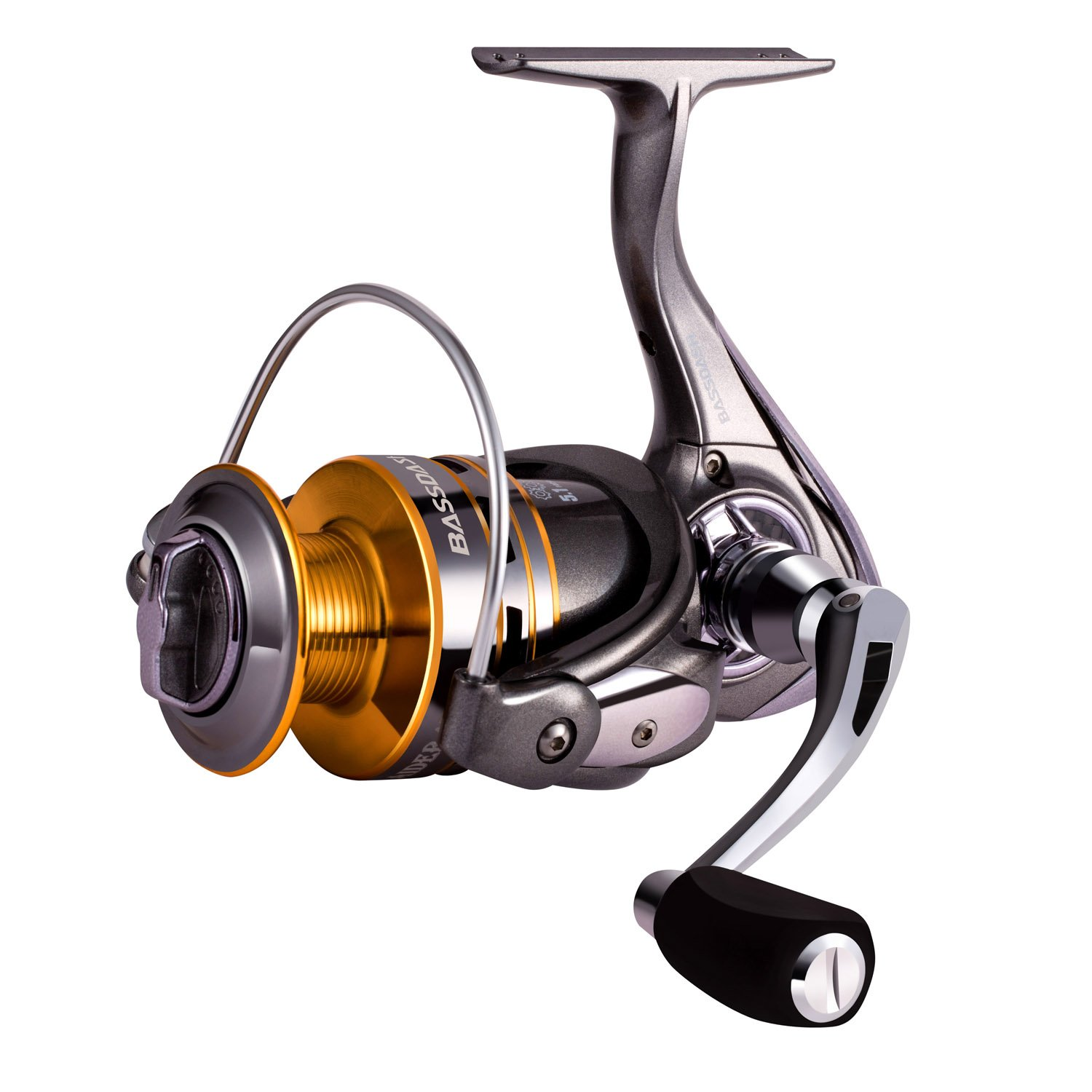 Bassdash Raider Spinning Fishing Reel, 9 1 Corrosion Resistant Bearings Including Indestructible TC4 Anti-Reverse, Carbon Fiber Drag, in Sizes 2000 3000 4000 for Saltwater or Freshwater