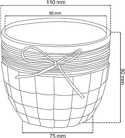 Keramik Blumentopf D 16,5 cm weiss 3D Muster Jute Dekor Keramiktopf /Übertopf