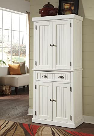 Home Styles 5022 69 Nantucket Pantry, Distressed White Finish