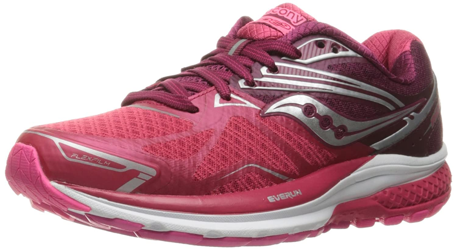 Saucony Women's Ride 9 Running Shoe B01GIPXXAY 9.5 B(M) US|Pink/Berry