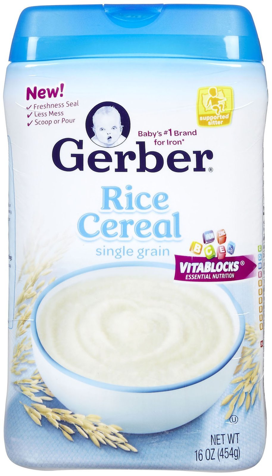 Gerber Organic 1st Food Single Grain Rice Cereal, 16 Ounce -- 6 per case.