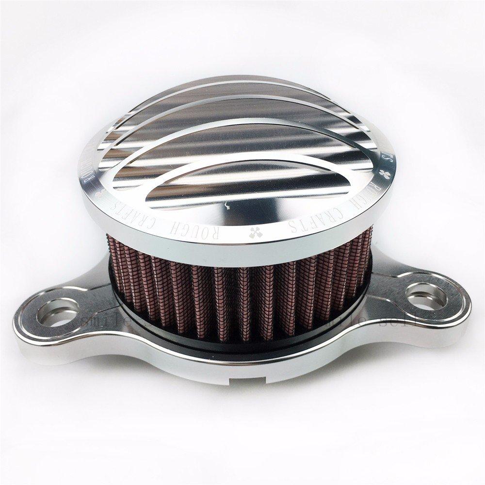 Presa filtro aria moto Per Harley Sportster XL 883 1200 2004 argento 2015