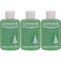 Campsuds Sierra Dawn Outdoor Soap Biodegradable Environmentally Safe All Purpose Cleaner, Camping Hiking Backpacking Travel Camp, Multipurpose for Dishes Shower Hand Shampoo (2-Ounce (3 Bottles))